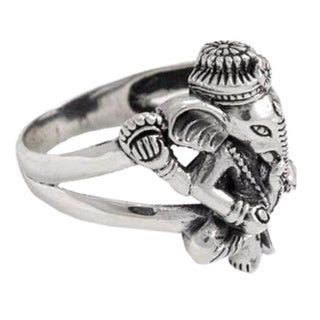 Handmade Men S Sterling Silver Lord Ganesha Ring Indonesia