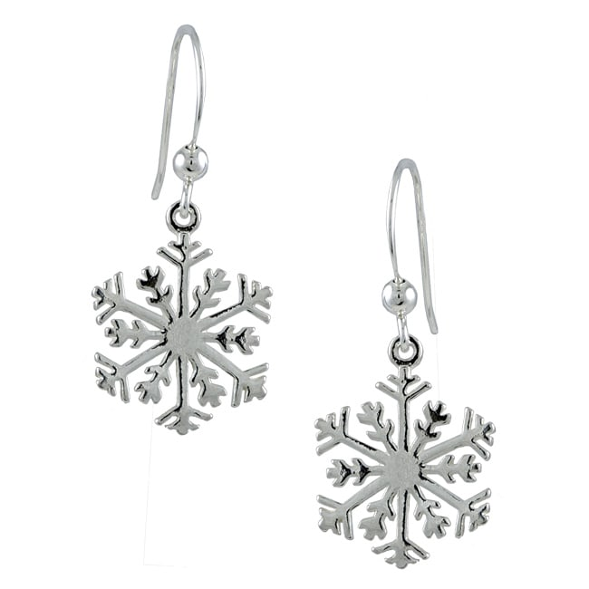 Silvermoon Sterling Silver Snowflake Earrings