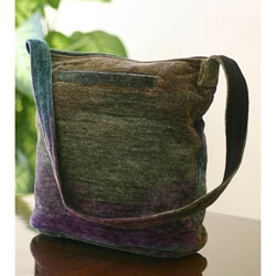 Bamboo Chenille 'Magic Forest' Medium Shoulder Bag (Guatemala)