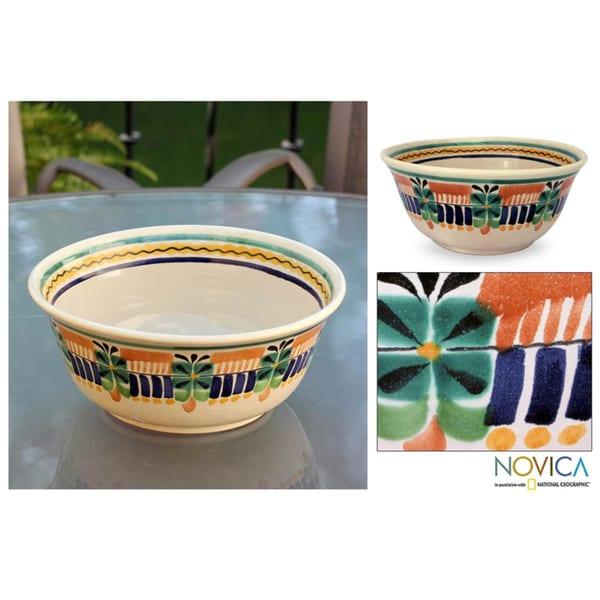 Majolica Ceramic 'Acapulco' Serving Bowl (Mexico)