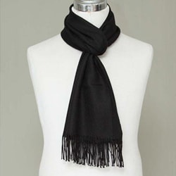 Handmade Men's Alpaca Wool 'Cuzco Night' Scarf (Peru)