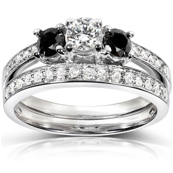 Annello 14k White Gold 3/4ct TDW Diamond Bridal Ring Set (H-I, I1-I2)