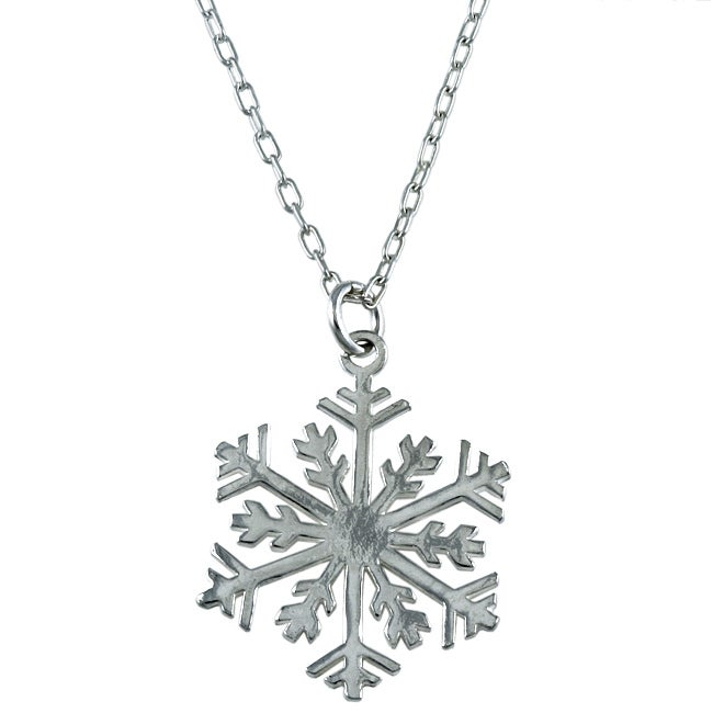 Silvermoon Sterling Silver Snowflake Necklace