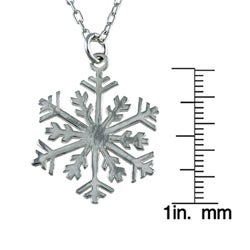 Silvermoon Sterling Silver Snowflake Necklace - Thumbnail 2