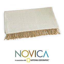 Alpaca Wool and Acrylic 'Andean Dawn' Throw (Peru)