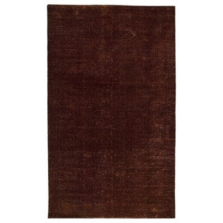 M.A.Trading Hand-woven Cherry Brown Area Rug (5' x 8')