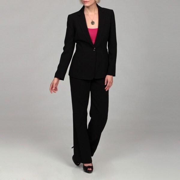 Tahari Women's Black Belted Pant Suit