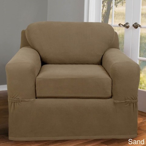 Maytex Stretch Pixel Chair 2 Piece Furniture / Slipcover
