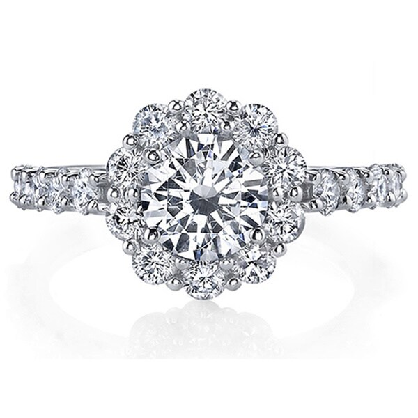 18k White Gold 2ct TDW Certified Diamond Engagement Ring