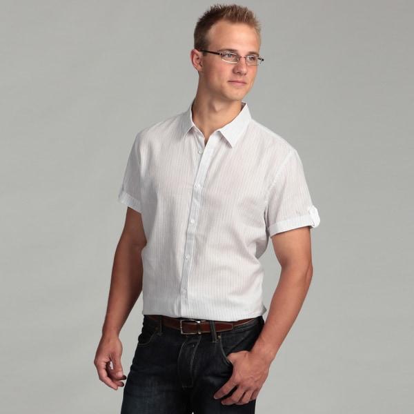 Calvin Klein Men's Striped Collared Shirt