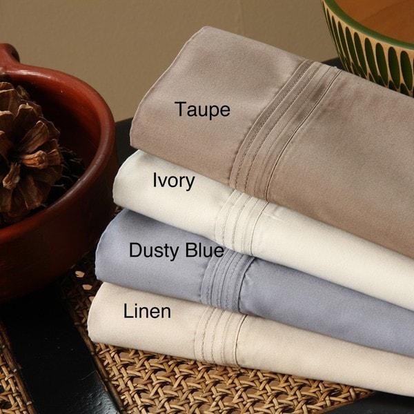 Pima Cotton Sateen 610 Thread Count Pillowcases (Set of 2)