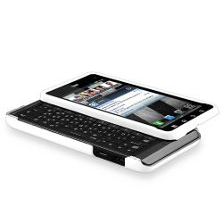 White Rubber Coated Case/ Screen Protector for Motorola Droid 3 - Thumbnail 1