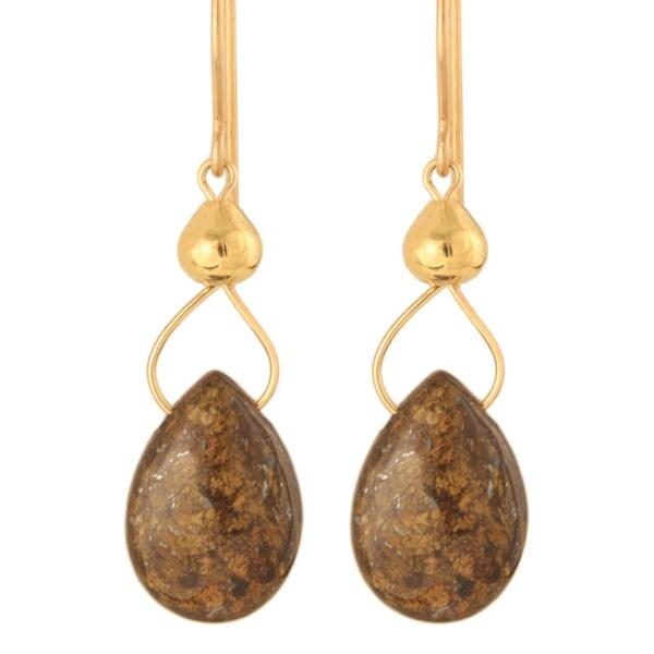 Drops Of Bronzite' Gold Fill / Sterling Silver Earrings