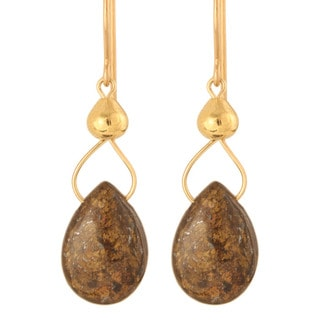 'Drops of Bronzite' 14k Gold Fill / Sterling Silver Earrings