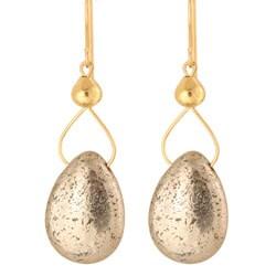 Drops of Pyrite Earrings