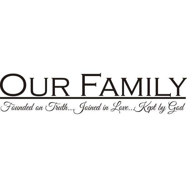 Free Shipping Family Is Vinyl Wall Lettering Quote Wall: Shop Design On Style 'Our Family' Vinyl Wall Art Quote