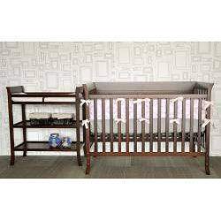 Ava Complete 5 piece Nursery Set by BabyMod in Espresso - Thumbnail 1