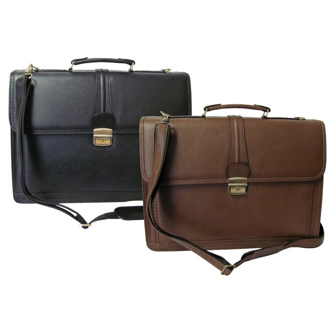 Amerileather Quincy Executive Leatherette Briefcase (Black)