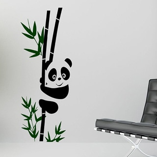 Vinyl 'Panda on a Bamboo Stalk' Wall Decal