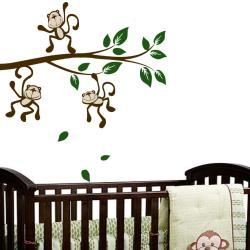 Vinyl 'Monkey Around on a Branch' Wall Decal