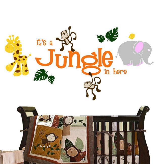 Vinyl Its A Jungle In Here Wall Decal Free Shipping Today - Wall decals jungle