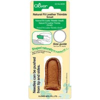 Clover Natural Fit Small Leather Thimble