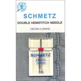 Silver Metal Size 100 Decorative Hemstitch Single-shaft Double-needle
