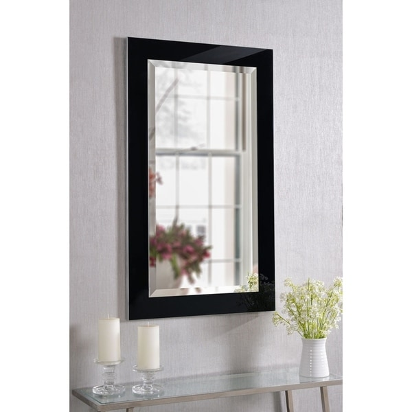Shop Carter 40 Inch Black Ice Wall Mirror Free Shipping Today Overstock 6293484