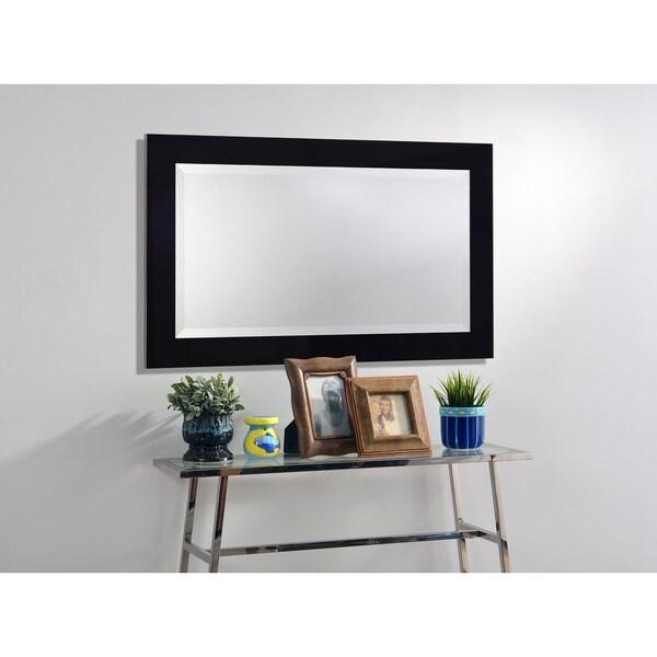 Carter 40x24 Black Ice Wall Mirror