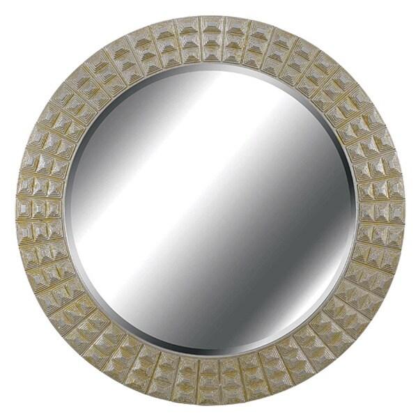 Hardeman Round Silver/ Gold Gilt Wall Mirror