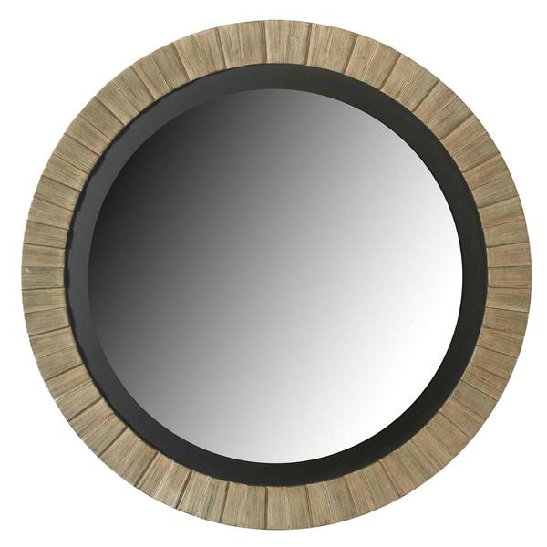 Glades Round Antique Silver Wall Mirror