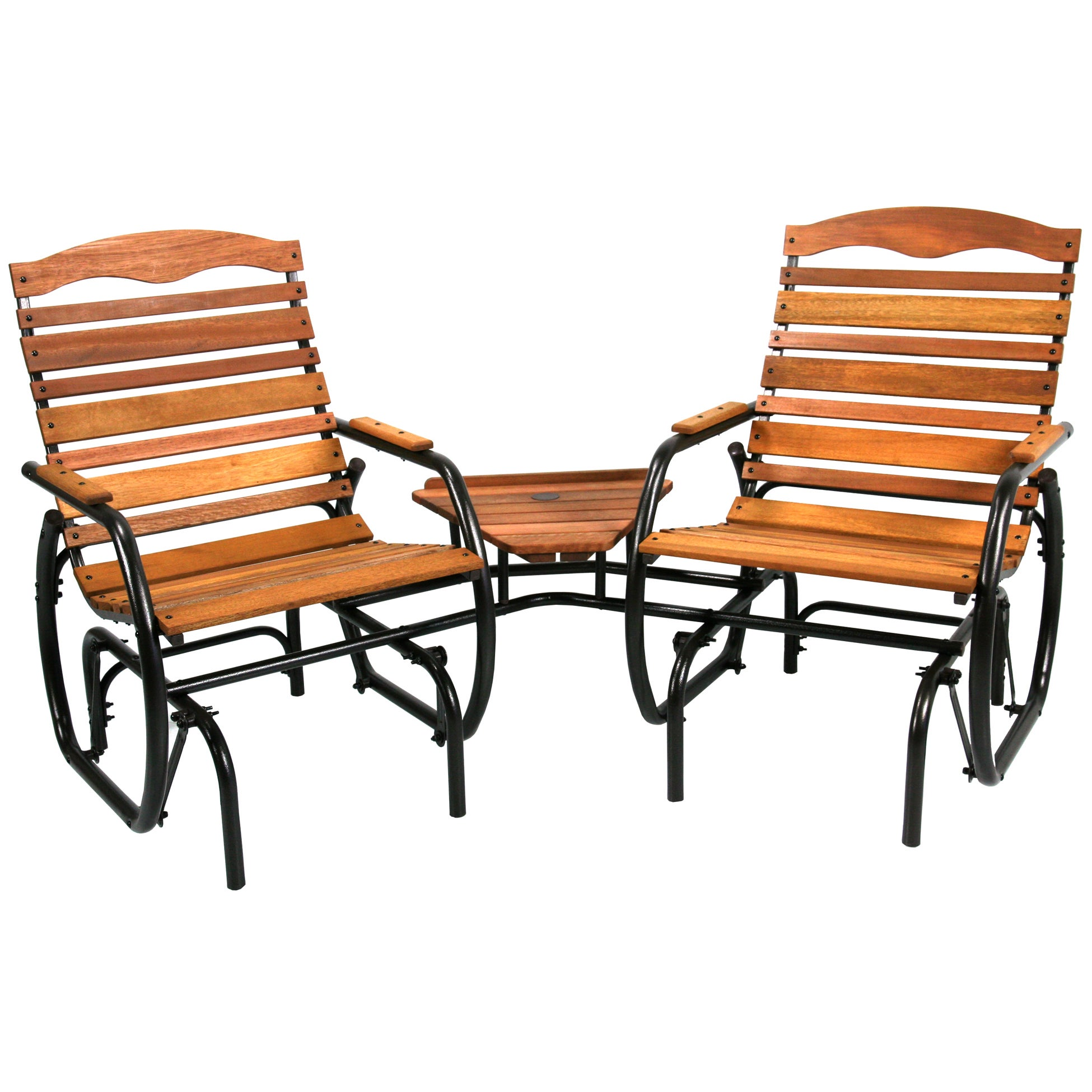 Patio Glider Chairs Garden Tete A Rocking Double 2 Person Outdoor Armchair
