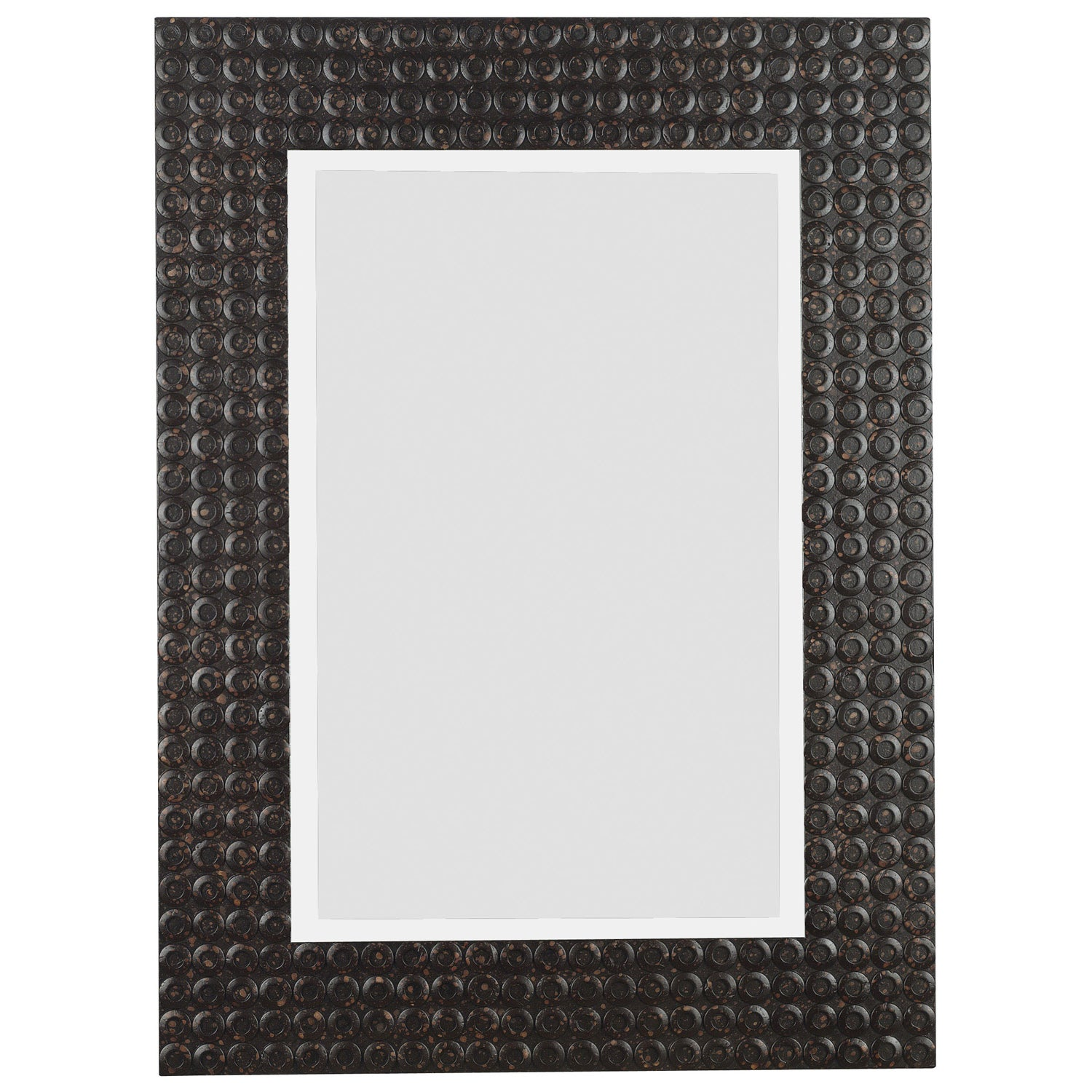 St. Lucie Black Multi-Finish Wall Mirror (38 x 28)