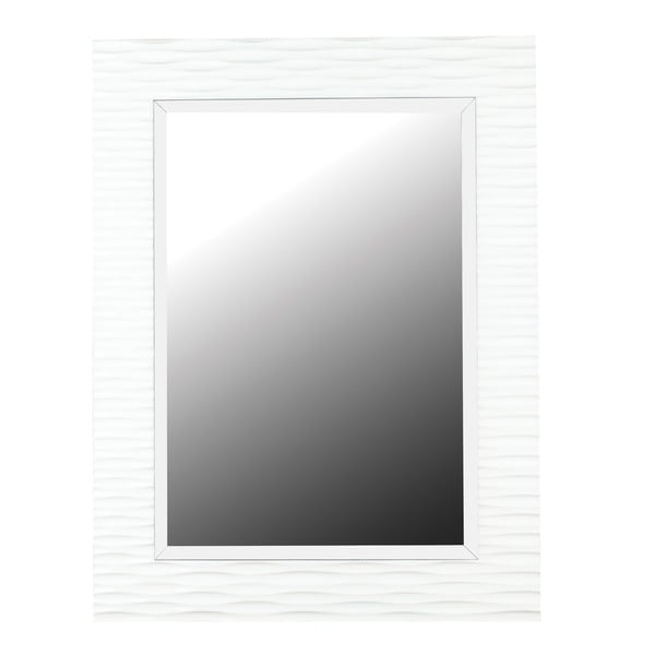 Shop Monroe (39 x 30) Gloss White Wall Mirror - Black/White - 9\'6\
