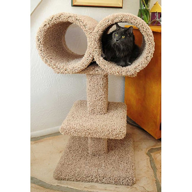 New Cat Condos Double Tunnel Cat Perch