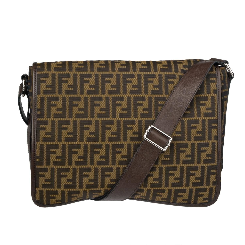 Fendi Canvas Zucca Messenger Bag