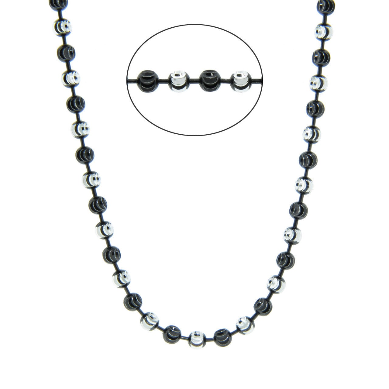 Eternally Haute Sterling Silver 18-in Half Moon Chain Necklace