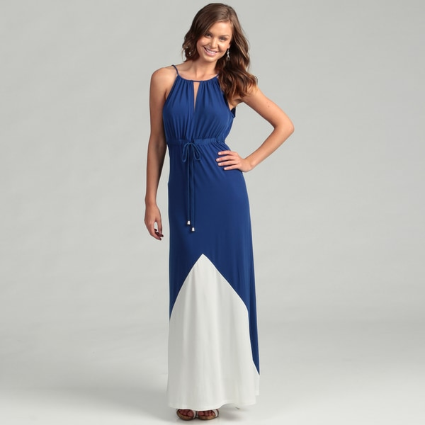 London Times Women&-39-s Blue/ White Maxi Dress - Free Shipping Today ...