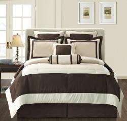 EverRouge Ivory Gramercy Queen-size 8-piece Comforter Set - Thumbnail 0