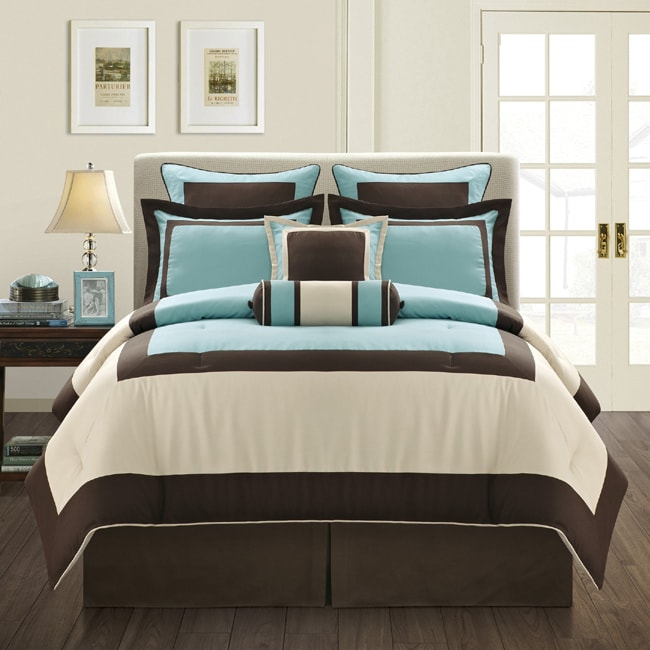 Shop Aqua Gramercy Queen Size 8 Piece Comforter Set Free Shipping Today 6293885