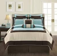 EverRouge Aqua Gramercy King-size 8-piece Comforter Set In King (As Is Item)