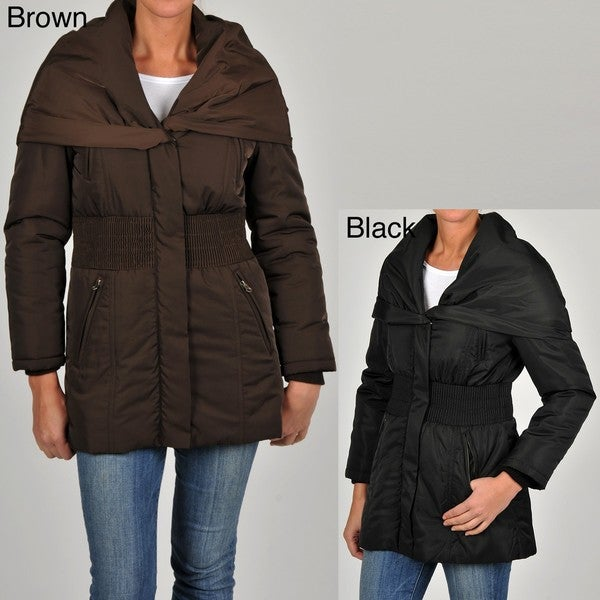 Excelled Women's Plus Size Puffer Coat