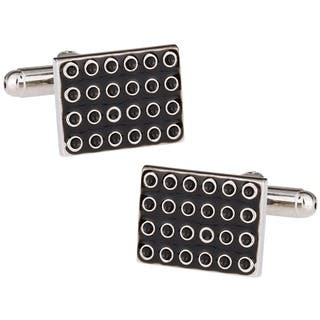 Cuff Daddy Silvertone Suction Cup Cuff Links