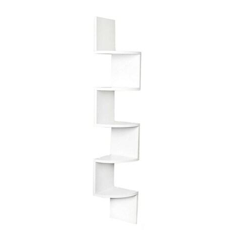 Danya B. Large Decorative 5-Tier Corner Floating Wall Mount Display Shelving Unit