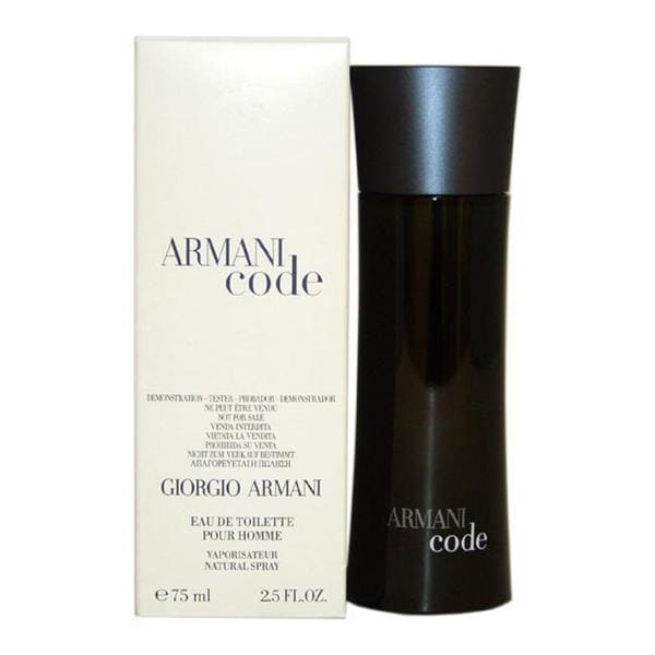 35a1b6abcf69 Shop Giorgio Armani Code Men s 2.5-ounce Eau de Toilette Spray (Tester) -  Free Shipping Today - Overstock.com - 6294225
