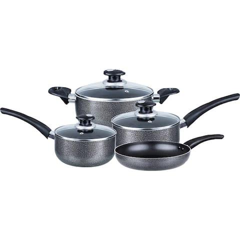 Brentwood Cookware 7-Piece Aluminum Non-Stick Gray