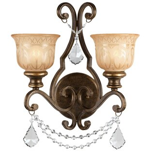 Crystorama Traditional Bronze Umber 2-light Wall Sconce