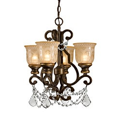 Crystorama Norwalk Collection 4-light Bronze Umber Chandelier