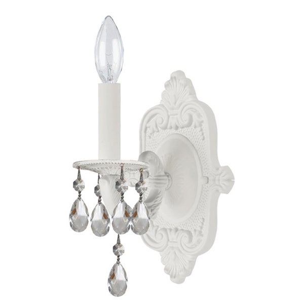 Sutton 1-light Wet White Wall Sconce
