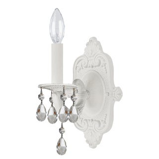 Crystorama Sutton Collection 1-light Wet White Wall Sconce